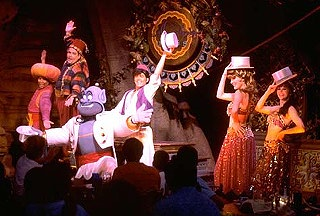 Photo of the Aladdin's Oasis stage show