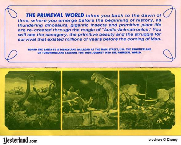 Scan of Disneyland '66 Brochure, The Primeval World