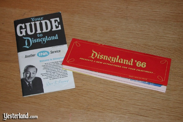 Photo of 1966 Disneyland Guide and New Attraction Brochure