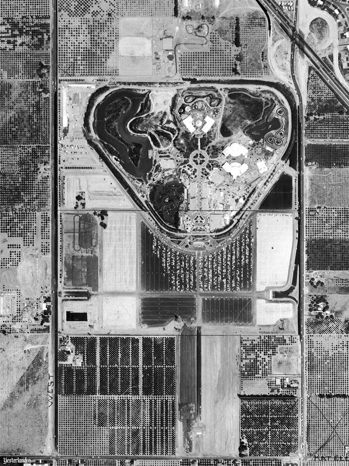Disneyland from Above on July 15, 1955 (1200 x 1600)