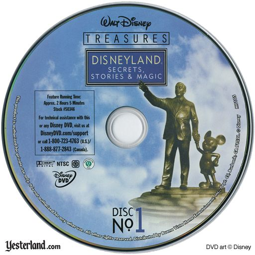 Scan of Disneyland: Secrets, Stories & Magic, disc 1