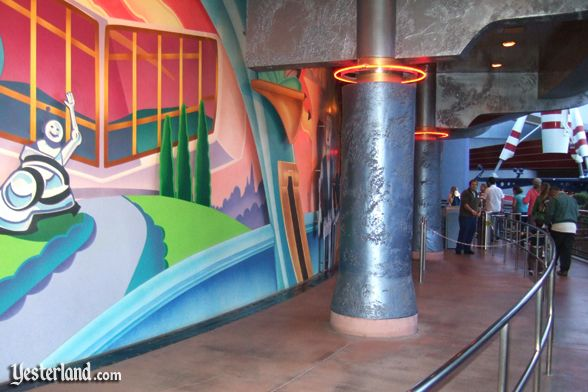 Yesterland presents homage to the house of the future for Disneyland mural