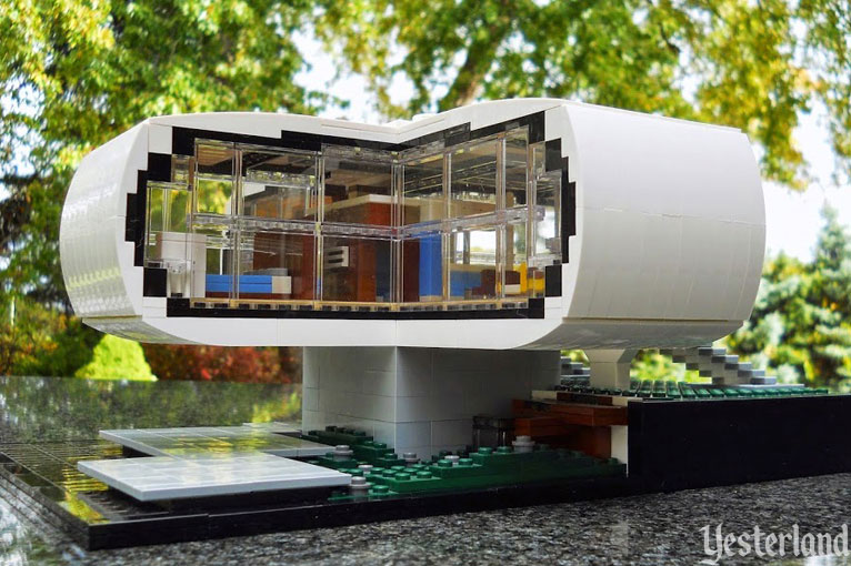 LEGO Model Of The House Of The Future At Disneyland