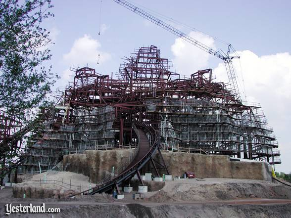 Photo of Expedition Everest under construction at Disney's Animal Kingdom: 2004 by Werner Weiss