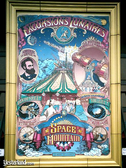 Photo of Space Mountain poster at Disneyland Paris: 2001 by Werner Weiss