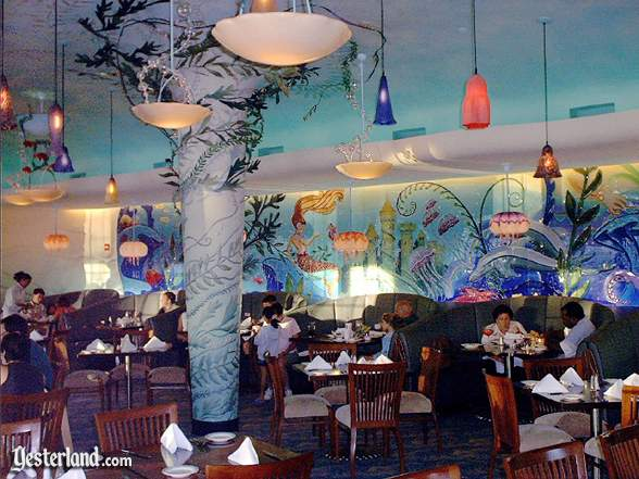 Photograph of Avalon Cove interior with glass mural