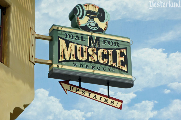Dial M for Muscle Workouts, Upstairs!, Hollywood Studios Backlot at Disney California Adventure
