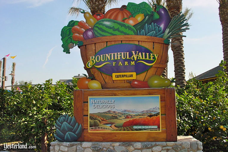 Sign for Bountiful Valley Farm at Disney's California Adventure