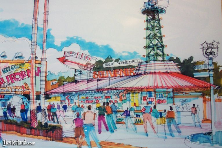 California Adventure Preview Center at Yesterland