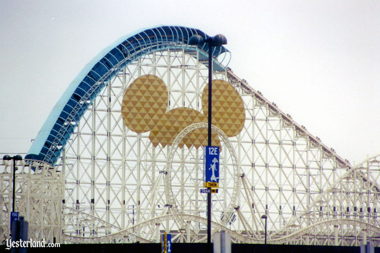 The Mickey Head on California Screamin' at Disney's California Adventure