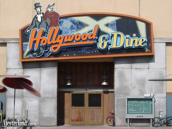 Photograph of Hollywood & Dine entrance sign