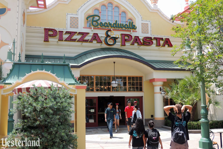 Boardwalk Pizza & Pasta exterior at Disney California Adventure