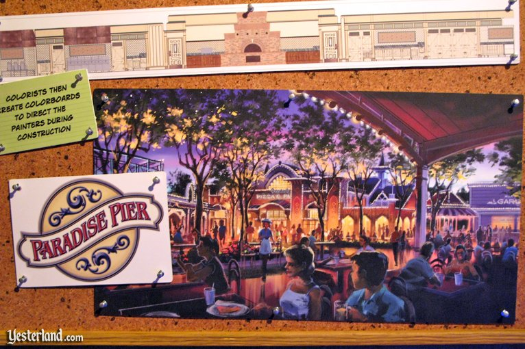 Boardwalk Pizza & Pasta artwork in Blue Sky Cellar at Disney California Adventure