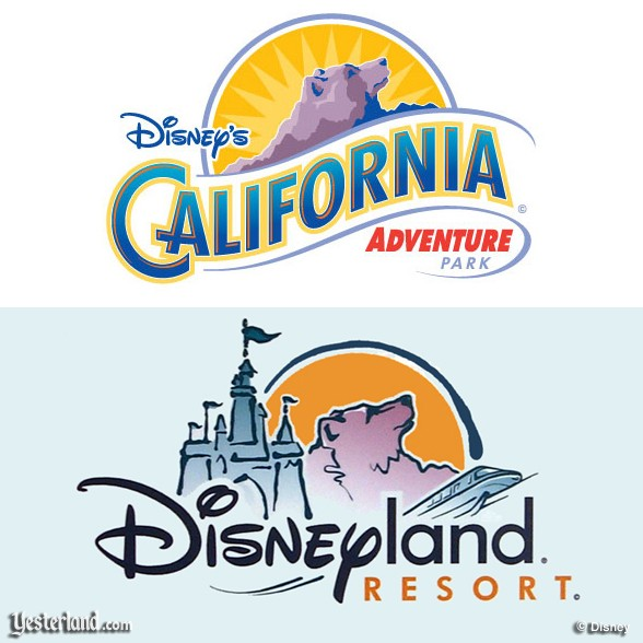 original logos for Disney's California Adventure and Disneyland Reosrt