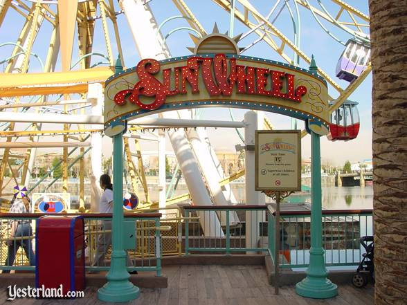 Sun Wheel photo for Yesterland article