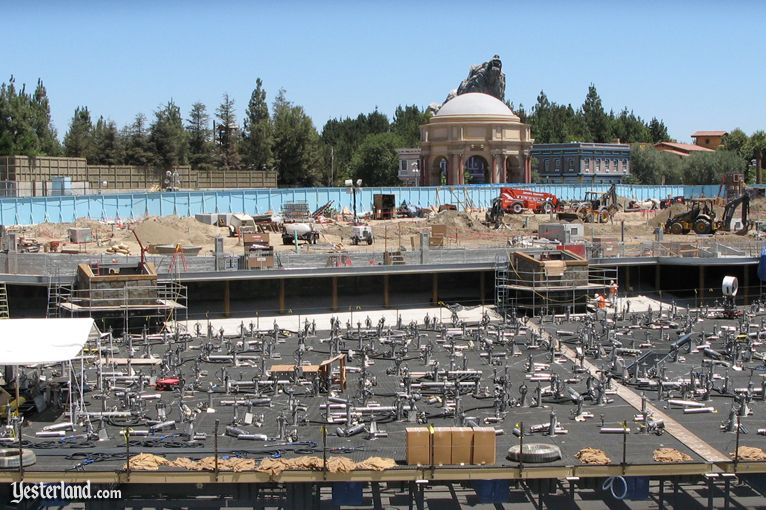 construction wall at Disney's California Adventure