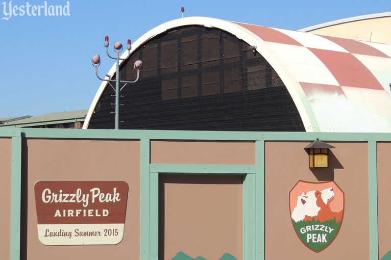 Grizzly Peak Airfield construction wall