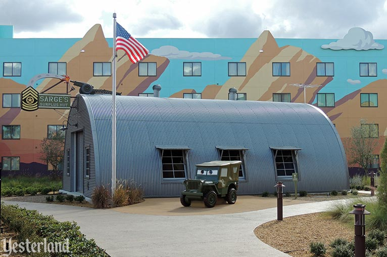 Cars area at Disney's Art of Animation Resort