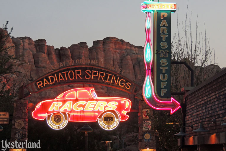 Lube-O-Rama in Cars Land at Disney California Adventure