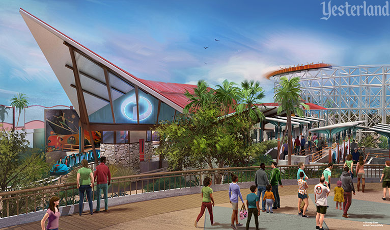 Artist Concept for Incredicoaster at Disney California Adventure