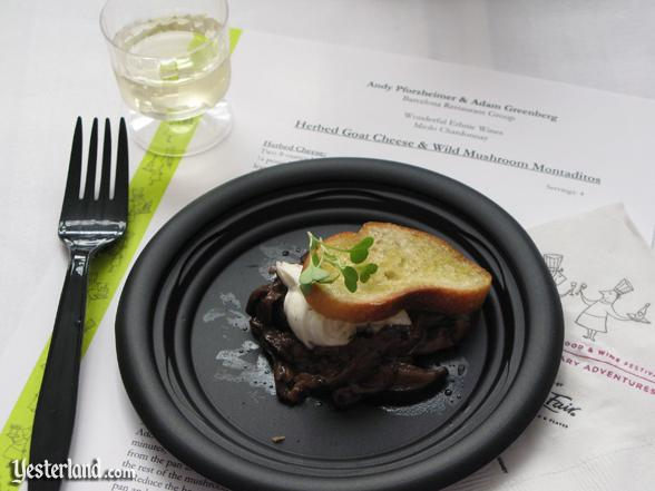 Sample at culinary demo at Epcot Food and Wine Festival, 2009