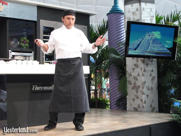 Chef at culinary demo, Epcot Food and Wine Festival, 2009