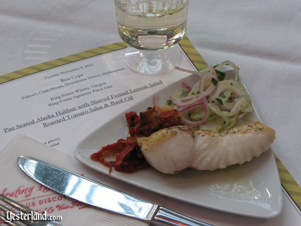 Sample at culinary demo at Epcot Food and Wine Festival, 2010