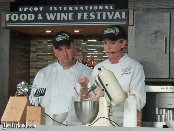 Culinary demo, Epcot Food and Wine Festival, 2012
