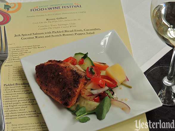 Culinary demo, Epcot Food and Wine Festival, 2013