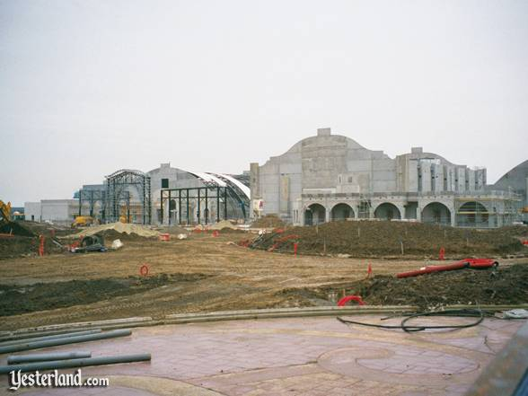 Walt Disney Studios Park under construction