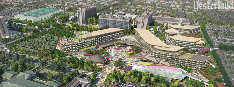 New 700-room hotel at the Disneyland Resort, artist concept only