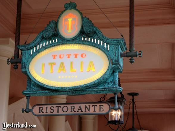 Photo of Tutto Italia Ristorante sign at Epcot