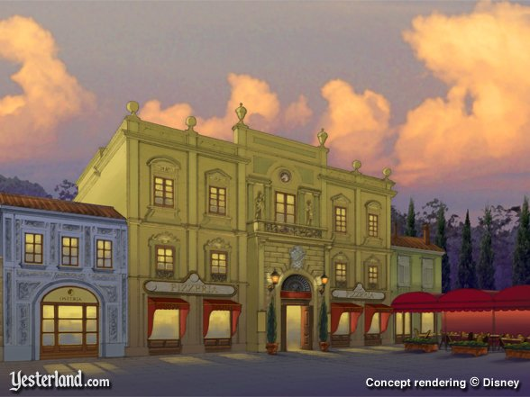 Concept rendering of Via Napoli at Epcot