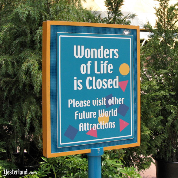 Erasing Wonders of Life at Epcot
