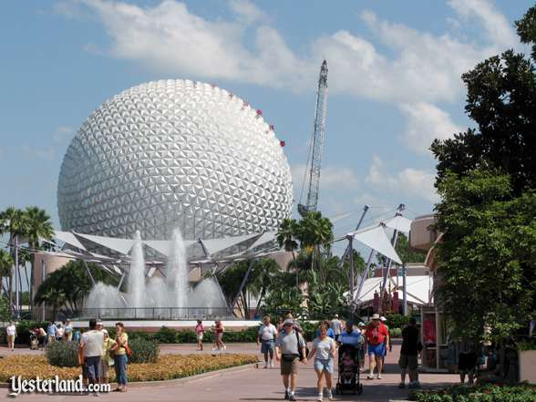 Photo of Epcot Icon Tower removal on August 18, 2007