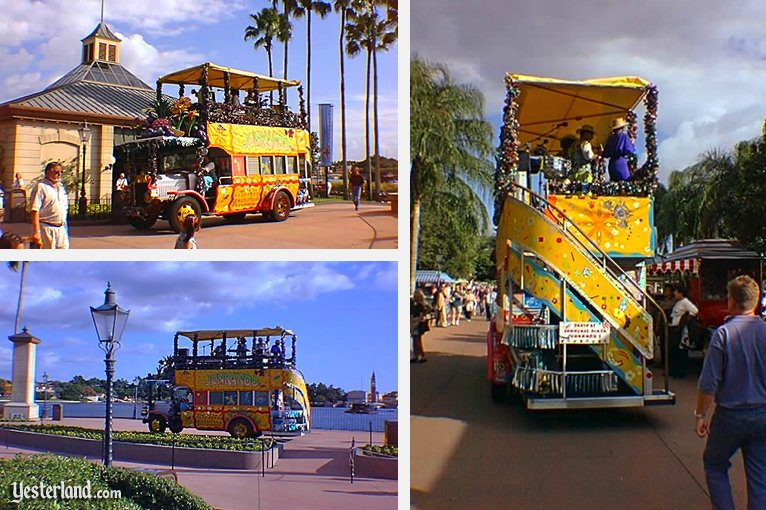 Junkanoo entertainment bus at Epcot