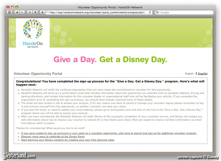 "give a day get a disney day"" at yesterland give a day get a disney day"
