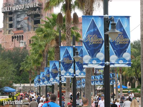 Banners for The Year of a Million Dreams at Disney's Hollywood Studios