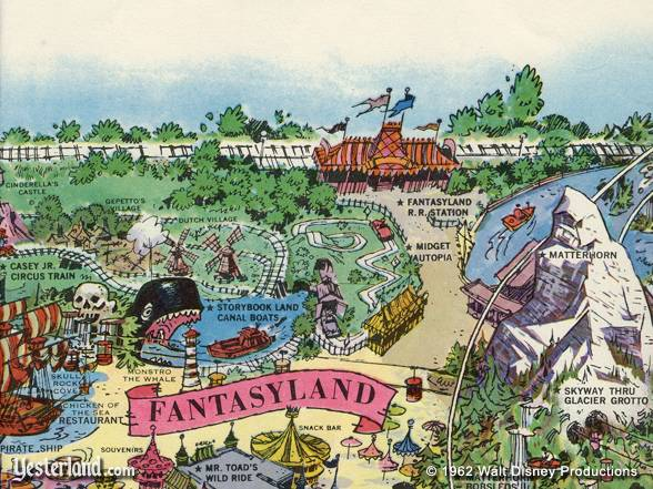 Excerpt from 1962 Disneyland Map, copyright 1962 Walt Disney Productions