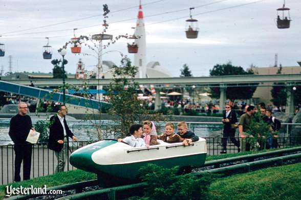 Matterhorn Bobsled with four kids