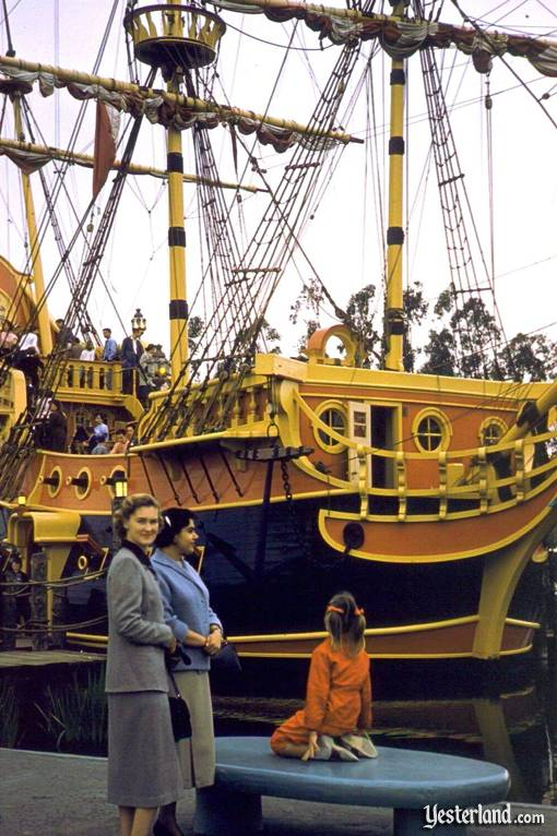 Pirate Shup at Disneyland, 1956
