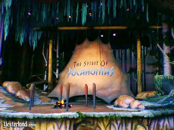 Photo of Spirit of Pocahontas stage with fire