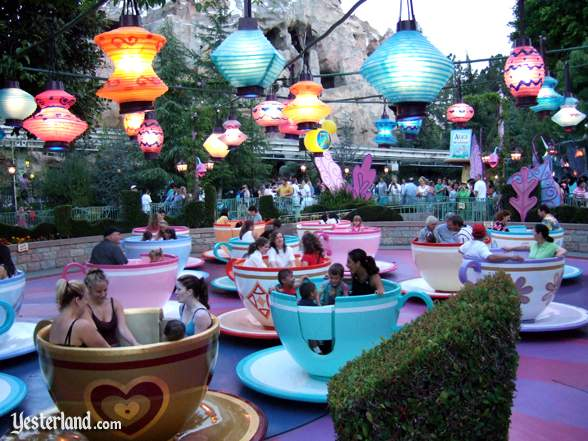 Photo of Mad Tea Party at dusk in 2005