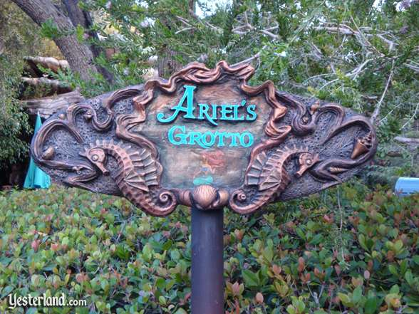 Ariel's Grotto sign at Triton's Garden, Disneyland: 2008, Chris Bales