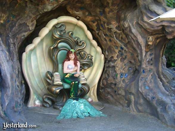 Ariel waving at Triton's Garden, Disneyland: 2003, by Allen Huffman
