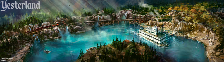Concept art for revamped Rivers of America at Disneyland