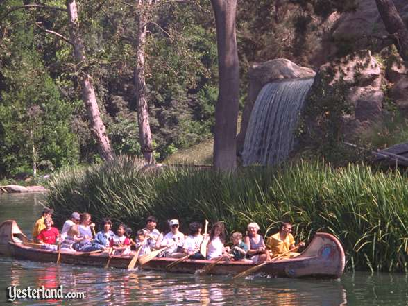 Davy Crockett's Explorer Canoes in Disneyland, 1996