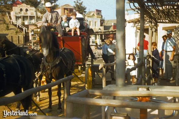 The Rainbow Mountain Stagecoach Ride starts from this loading area