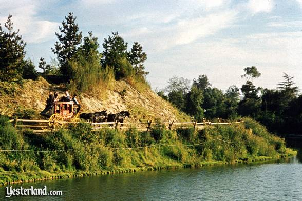Rainbow Mountain Stagecoach along the Rivers of America