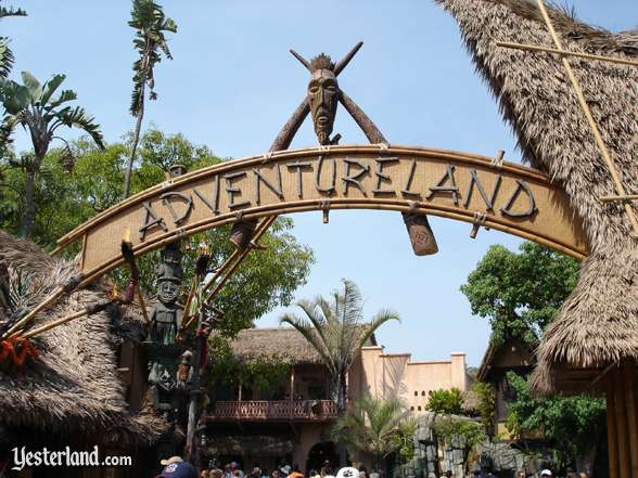 entrance to Adventureland at Disneyland